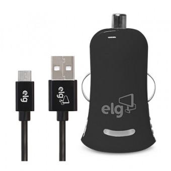 Carregador veicular + Cabo Micro USB KT510C1 ELG