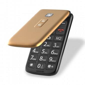 Celular Flip Vita Dual Chip MP3 Dourado Multilaser P9043