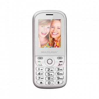 Celular Multilaser UP P3293 Dual Branco e Rosa