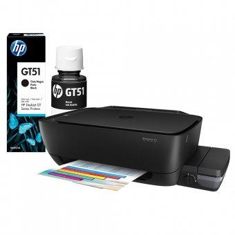 Impressora Multifuncional HP DeskJet GT 5822 Wi-Fi + 1 Garrafa de Tinta Preta GT51