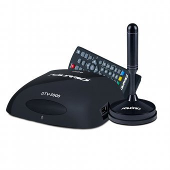 kit Conversor e Gravador Digital Full HD Aquario DTV-5100