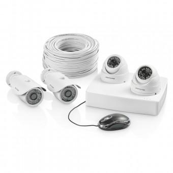 Imagem - Kit de Segurança com 4 Câmeras e 1 DVR de 4 Canais SE117 Multilaser