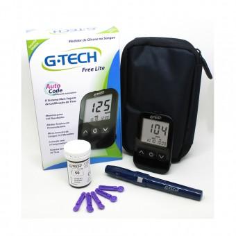 Kit Medidor de Glicose G-Tech Free Lite com 10 Tiras