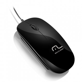 Mouse Colors Slim Black Piano Usb MO166 Multilaser