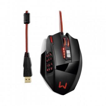 Mouse Multilaser Gamer Laser 18 Botões 4000Dpi Preto USB MO206