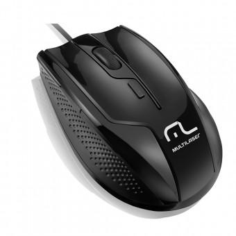 Mouse óptico Multilaser Profissional Rapid 6 Botões 1600Dpi USB Preto MO164