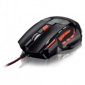 Mouse Óptico XGamer Fire Button USB 2400DPI Preto e Vermelho MO236 Multilaser