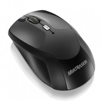Mouse Sem Fio 2.4 Ghz Ski Black Nano Usb MO146 Multilaser
