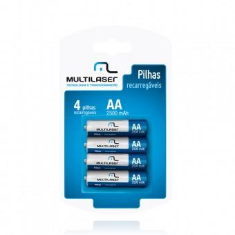 Pilhas Recarregáveis Aa (2500mah) CB052 Multilaser