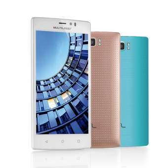 Smartphone Multilaser MS60 P9006 Branco e Dourado