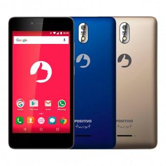 Smartphone Positivo Twist S520 S Dual Azul e Dourado