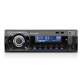 Som Automotivo Talk Multilaser Rádio FM Bluetooth Entradas USB SD e Auxiliar P3214