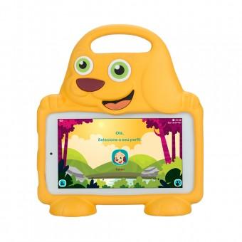 Tablet DL Drop Kids 8GB TX306BR 3G Wifi com Capa de Cachorro