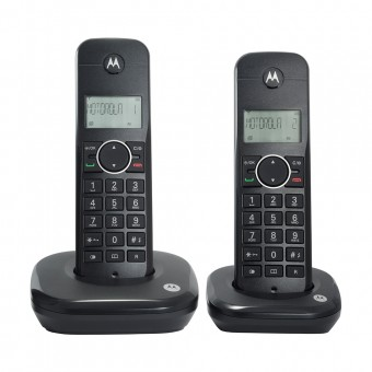 Telefone Sem Fio Digital até 5 Ramais com Id de Chamadas + 1 Ramal MOTO500ID-2 Preto Motorola