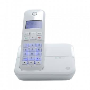 Telefone Sem Fio Digital até 5 Ramais com Viva-voz + Id de Chamadas Branco MOTO4000-W Motorola