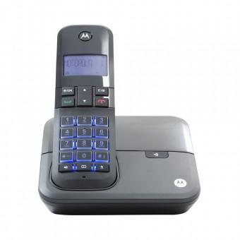 Telefone Sem Fio Digital até 5 Ramais com Viva-voz + Id de Chamadas Preto MOTO4000 Motorola