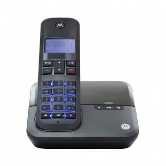 Imagem - Telefone Sem Fio Digital até 5 Ramais com Viva-voz + Id de Chamadas + Sec Eletrônica Preto MOTO4000-SE Motorola
