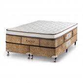 Imagem do produto - Conjunto Cama Box - Colchão Eurotop Supreme Molas Pocket® Castor com Box SI