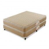 Imagem do produto - Conjunto Cama Box - Colchão Gran Hotel Molas Bonnel Pillow Top Castor com Box SI