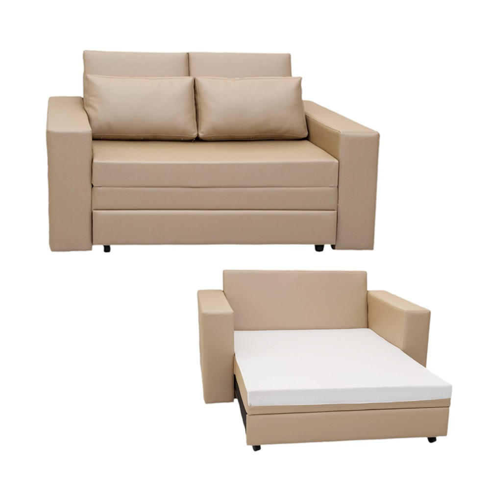 Sof cama castor salerno bege - Sofas cama de 1 20 cm ...