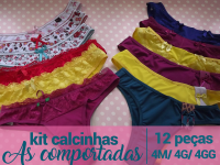 Kit Calcinhas As Comportadas