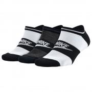 Kit 3 Meias Nike Sportswear No Show | Preto