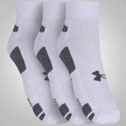 Kit 3 Meias Under Armour Heatgear 3PK Low | Branco-Preto