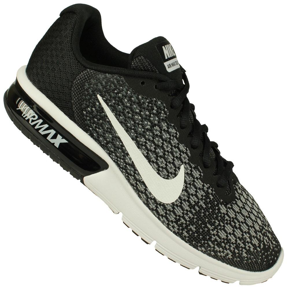 T 234 Nis Nike Air Max Sequent 2 Preto Branco Freecs