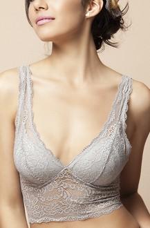 Imagem - Top cropped rendado com bojo cortininha 30412  - 304120001