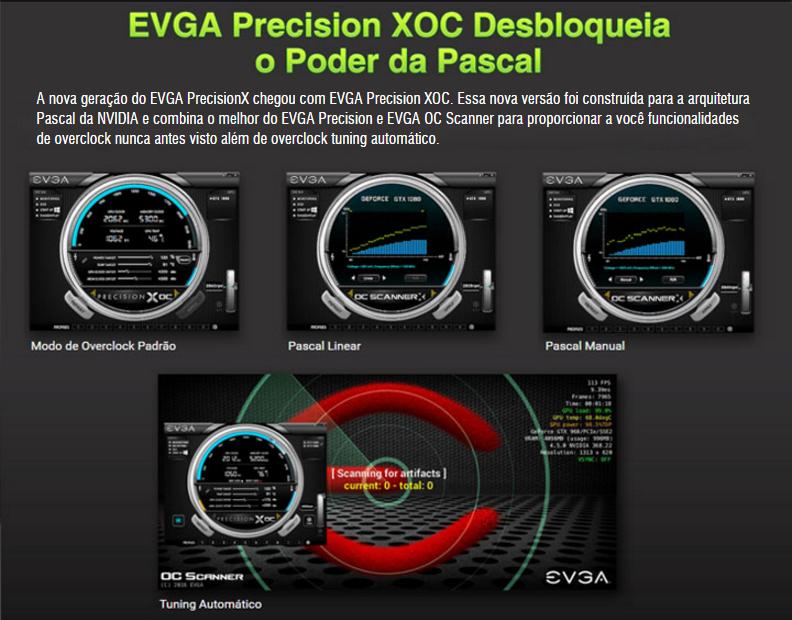Placa de Vídeo Vga Nvidia Evga Geforce Gtx 1060 3gb Sc Acx2 0