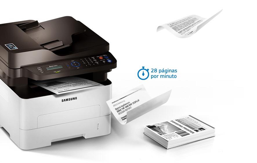 Agora você trabalha mais rápido, de maneira mais flexível e com mais  produtividade. A Multifuncional Samsung Xpress M2885FW imprime 28 páginas  por minuto em ... 02198a1ec0