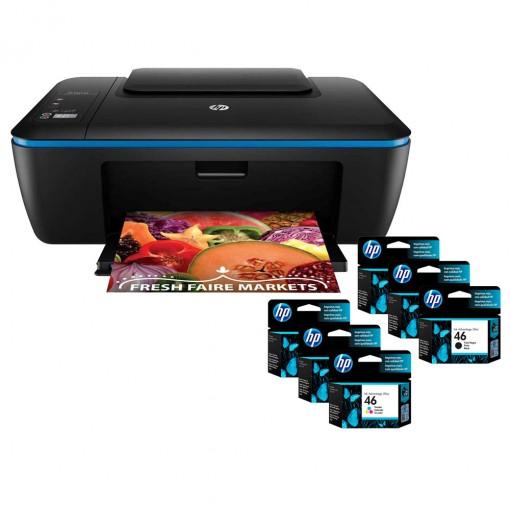 Multifuncional HP DeskJet Ink Advantage Ultra 2529 + 03 Cartuchos HP 46 Preto + 03 HP 46 Tricolor