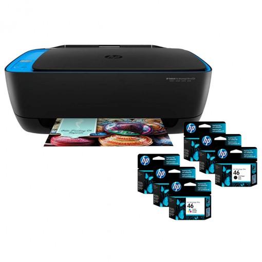 Multifuncional HP DeskJet Ink Advantage Ultra 4729 + 03 Cartuchos HP 46 Preto + 03 HP 46 Tricolor
