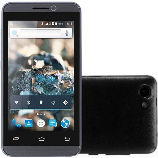 Smartphone Rockcel Quartzo Preto, Dual Chip, Tela 4.0