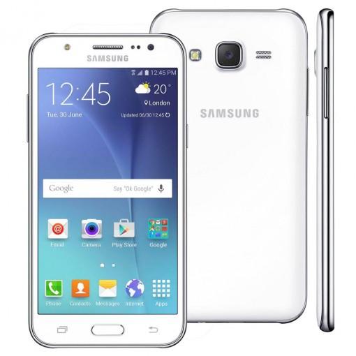 Smartphone Samsung Galaxy J5 Duos J500M, Branco, Tela 5'' 4G + WiFi, Android 5.0, 13MP, 16GB