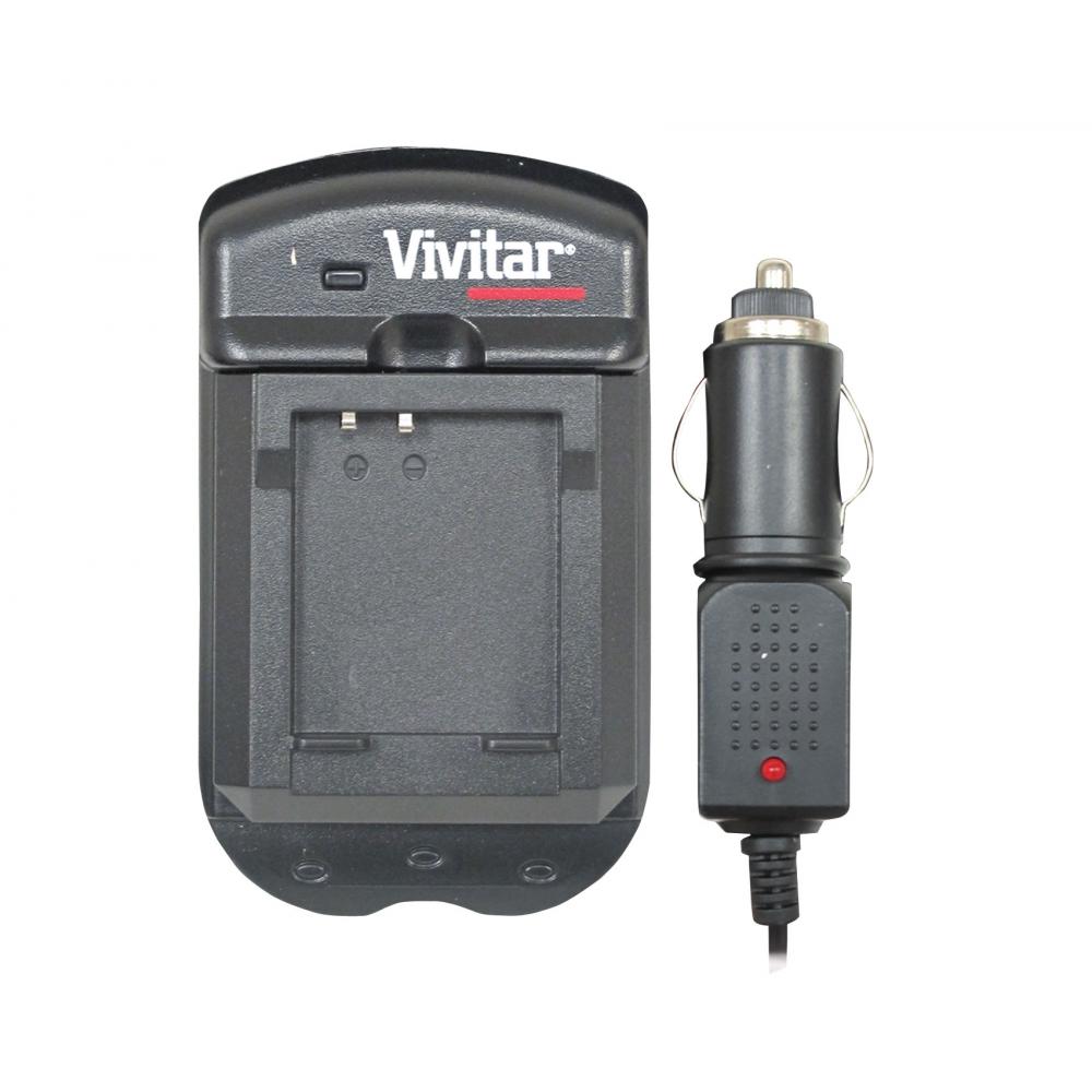 Carregador de bateria para câmera Panasonic com carregador veicular - VIVITAR