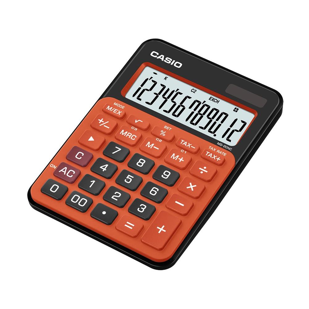 Calculadora Casio compacta de mesa, visor amplo de 12 dígitos MS-20NC-BRG - CASIO