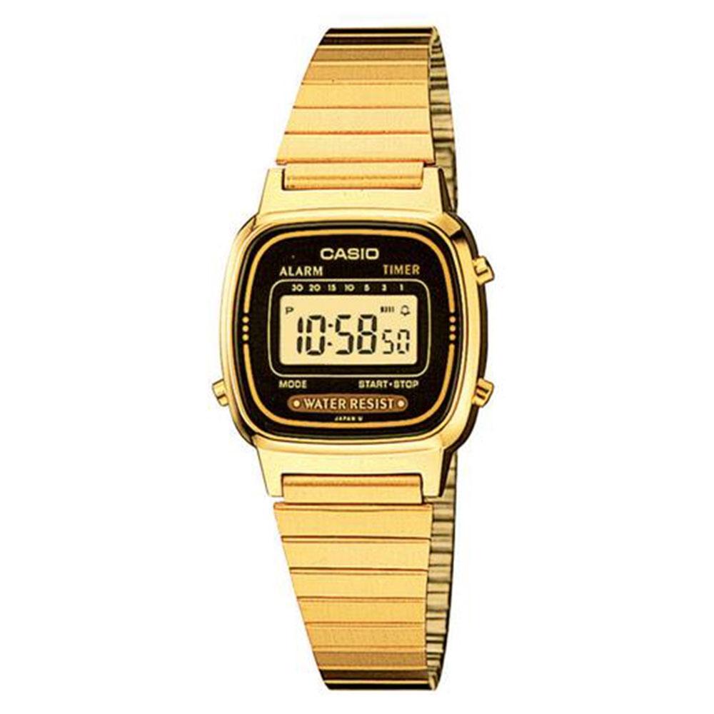Relógio Feminino Digital Casio LA670WGA1DF - Dourado
