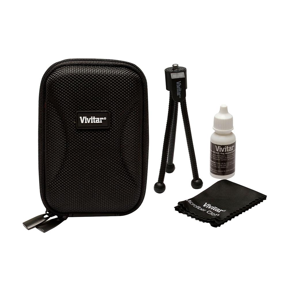 Conjunto com estojo e acessórios para câmera digital - VIVITAR