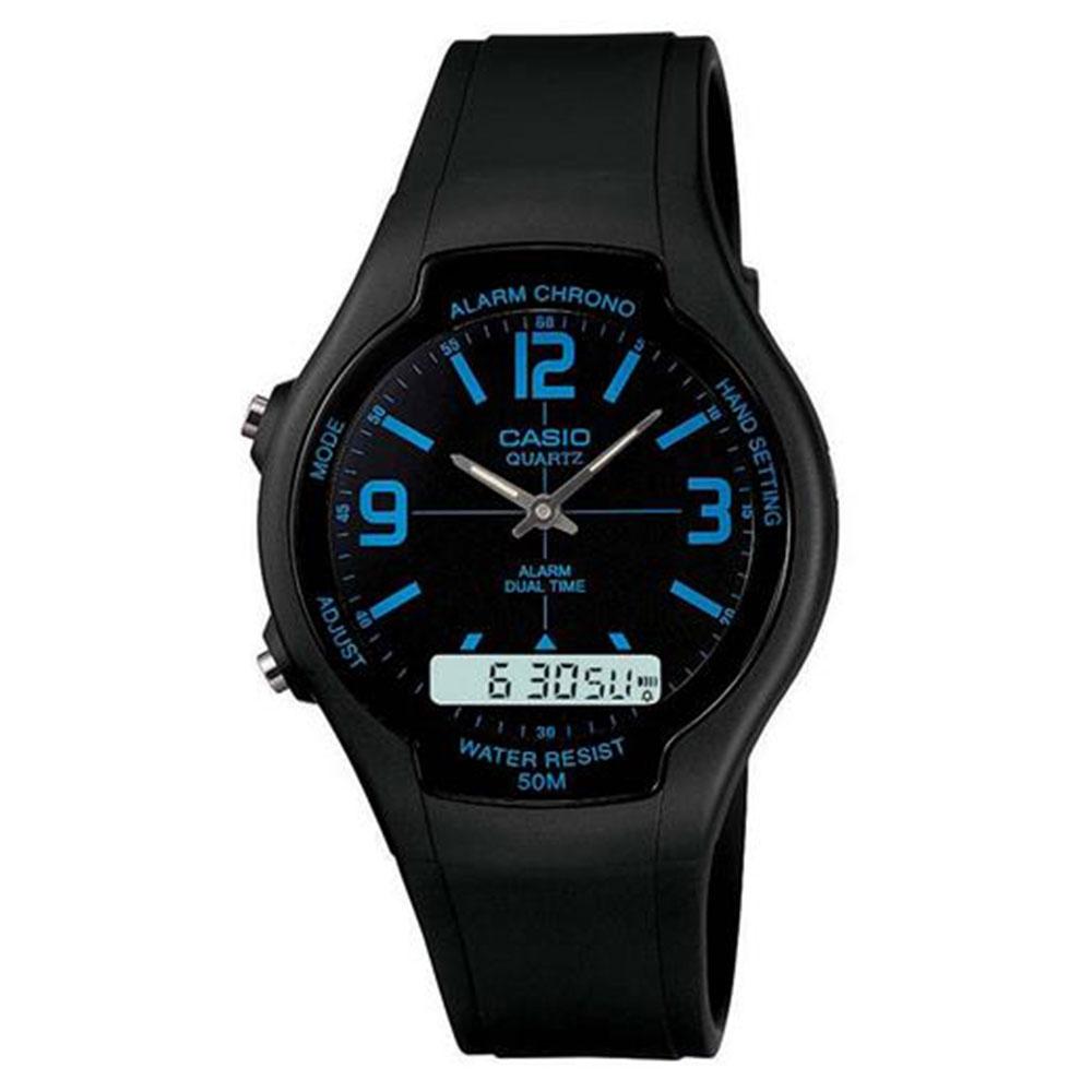 Relógio Masculino Anadigi Casio AW-90H-2BVDF - Preto