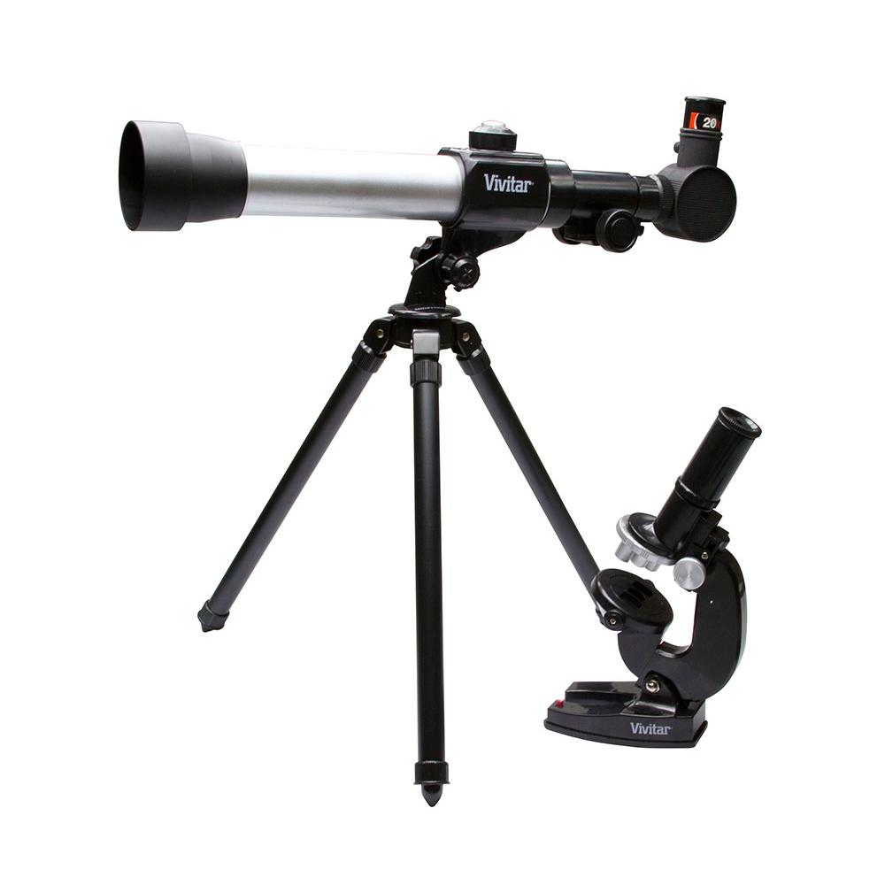 Kit combinado telescópio e microscópio  - VIVITAR