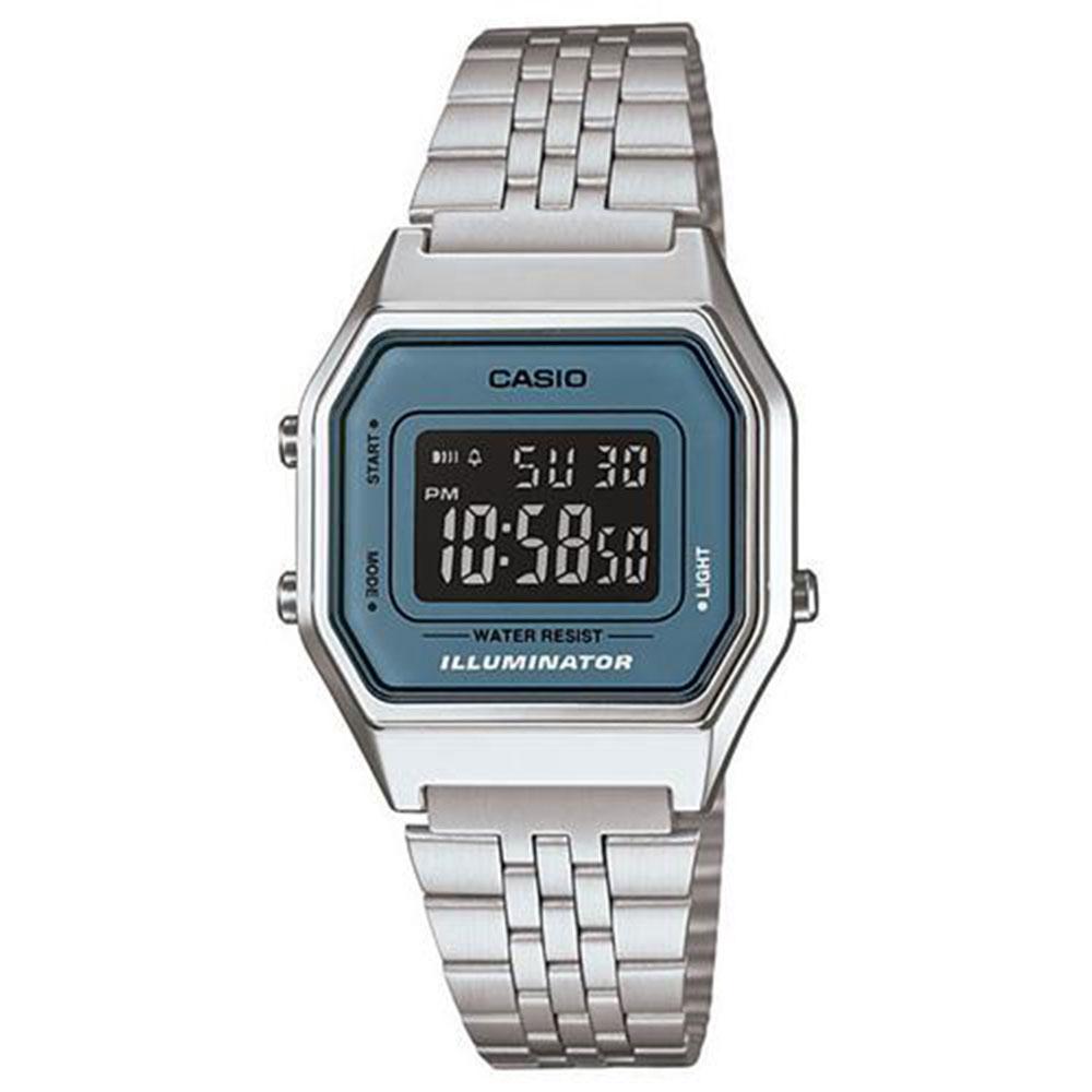 Relógio Feminino Digital Casio Vintage LA680WA-2BDF - Prata