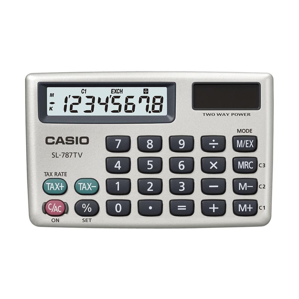 Calculadora Casio de bolso horizontal c/ visor 8 dígitos SL-787TV-GD - CASIO