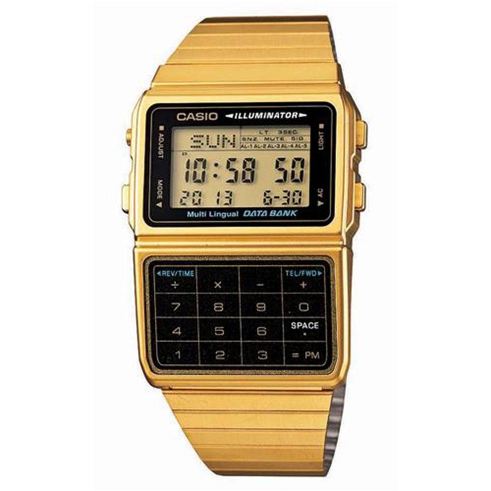 Relógio Masculino Digital Casio DBC611G1DF - Dourado
