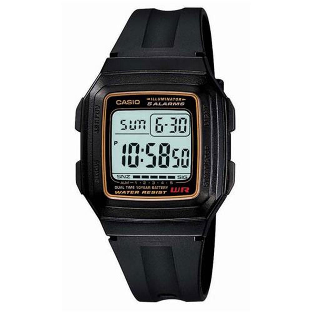 Relógio Masculino Digital Casio F201WA9ADF - Preto