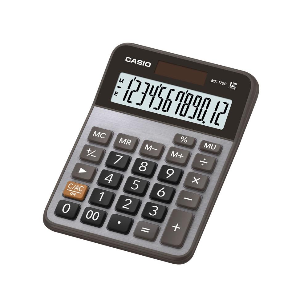 Calculadora Casio de mesa 12 dígitos e alimentação solar MX-120B - CASIO