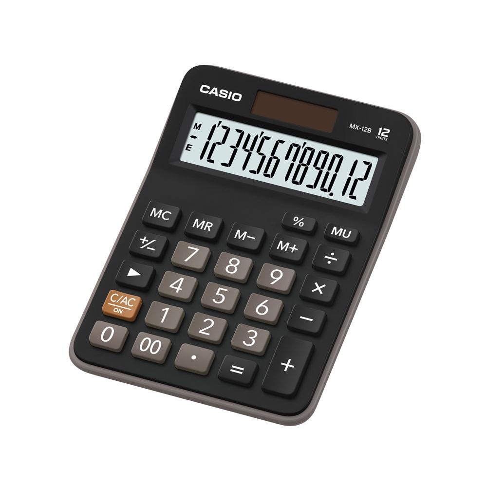 Calculadora Casio de mesa visor XL, 12 dígitos e alimentação dupla MX-12B - CASIO
