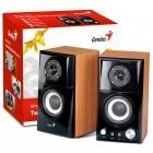 Caixa de Som 2.0 CH Genius SP-HF500A com 14 Watts RMS - 2 Caixas Premium Wood