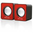Caixa De Som Multilaser 2.0 Mini com 03 Whats RMS USB - Vermelha