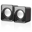 Caixa De Som Multilaser 2.0 Mini com 03 Whats RMS USB - Preta